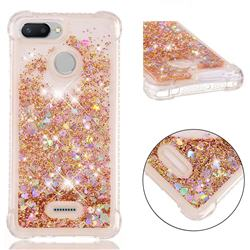 Dynamic Liquid Glitter Sand Quicksand Star TPU Case for Mi Xiaomi Redmi 6 - Diamond Gold