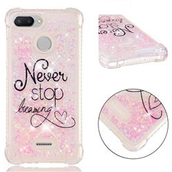 Never Stop Dreaming Dynamic Liquid Glitter Sand Quicksand Star TPU Case for Mi Xiaomi Redmi 6