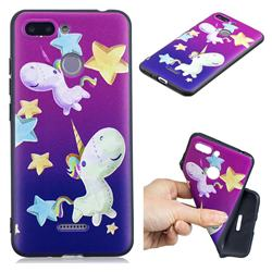 Pony 3D Embossed Relief Black TPU Cell Phone Back Cover for Mi Xiaomi Redmi 6