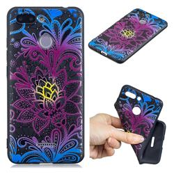 Colorful Lace 3D Embossed Relief Black TPU Cell Phone Back Cover for Mi Xiaomi Redmi 6