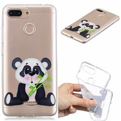 Bamboo Panda Clear Varnish Soft Phone Back Cover for Mi Xiaomi Redmi 6