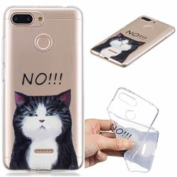 Cat Say No Clear Varnish Soft Phone Back Cover for Mi Xiaomi Redmi 6