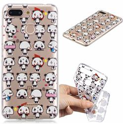 Mini Panda Clear Varnish Soft Phone Back Cover for Mi Xiaomi Redmi 6