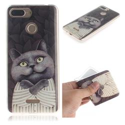 Cat Embrace IMD Soft TPU Cell Phone Back Cover for Mi Xiaomi Redmi 6