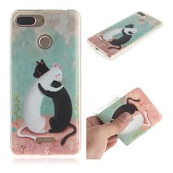 Black and White Cat IMD Soft TPU Cell Phone Back Cover for Mi Xiaomi Redmi 6