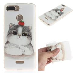Cute Tomato Cat IMD Soft TPU Cell Phone Back Cover for Mi Xiaomi Redmi 6