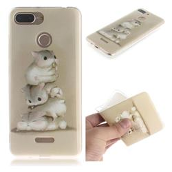 Three Squirrels IMD Soft TPU Cell Phone Back Cover for Mi Xiaomi Redmi 6