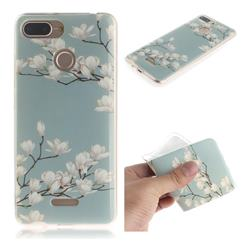 Magnolia Flower IMD Soft TPU Cell Phone Back Cover for Mi Xiaomi Redmi 6