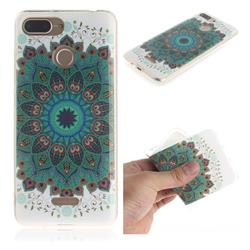 Peacock Mandala IMD Soft TPU Cell Phone Back Cover for Mi Xiaomi Redmi 6