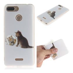 Cat and Tiger IMD Soft TPU Cell Phone Back Cover for Mi Xiaomi Redmi 6