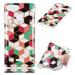 Three-dimensional Square Soft TPU Marble Pattern Phone Case for Mi Xiaomi Redmi 6
