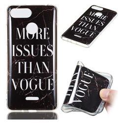 Stylish Black Soft TPU Marble Pattern Phone Case for Mi Xiaomi Redmi 6