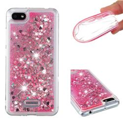 Dynamic Liquid Glitter Quicksand Sequins TPU Phone Case for Mi Xiaomi Redmi 6 - Rose