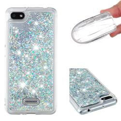 Dynamic Liquid Glitter Quicksand Sequins TPU Phone Case for Mi Xiaomi Redmi 6 - Silver