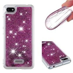 Dynamic Liquid Glitter Quicksand Sequins TPU Phone Case for Mi Xiaomi Redmi 6 - Purple
