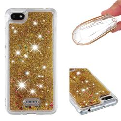 Dynamic Liquid Glitter Quicksand Sequins TPU Phone Case for Mi Xiaomi Redmi 6 - Golden
