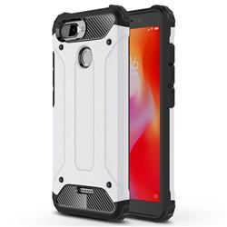 King Kong Armor Premium Shockproof Dual Layer Rugged Hard Cover for Mi Xiaomi Redmi 6 - White