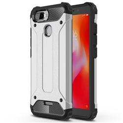 King Kong Armor Premium Shockproof Dual Layer Rugged Hard Cover for Mi Xiaomi Redmi 6 - Technology Silver