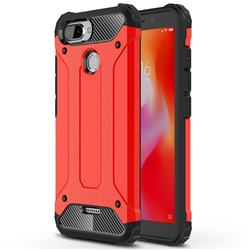 King Kong Armor Premium Shockproof Dual Layer Rugged Hard Cover for Mi Xiaomi Redmi 6 - Big Red