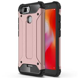 King Kong Armor Premium Shockproof Dual Layer Rugged Hard Cover for Mi Xiaomi Redmi 6 - Rose Gold