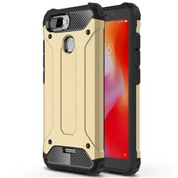 King Kong Armor Premium Shockproof Dual Layer Rugged Hard Cover for Mi Xiaomi Redmi 6 - Champagne Gold