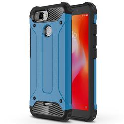 King Kong Armor Premium Shockproof Dual Layer Rugged Hard Cover for Mi Xiaomi Redmi 6 - Sky Blue