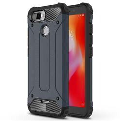 King Kong Armor Premium Shockproof Dual Layer Rugged Hard Cover for Mi Xiaomi Redmi 6 - Navy