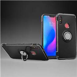 Armor Anti Drop Carbon PC + Silicon Invisible Ring Holder Phone Case for Mi Xiaomi Redmi 6 - Black