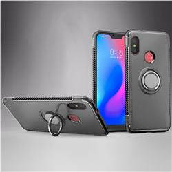 Armor Anti Drop Carbon PC + Silicon Invisible Ring Holder Phone Case for Mi Xiaomi Redmi 6 - Grey