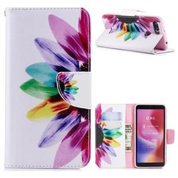 Seven-color Flowers Leather Wallet Case for Mi Xiaomi Redmi 6