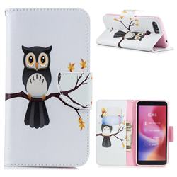 Owl on Tree Leather Wallet Case for Mi Xiaomi Redmi 6