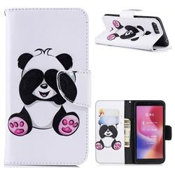 Lovely Panda Leather Wallet Case for Mi Xiaomi Redmi 6