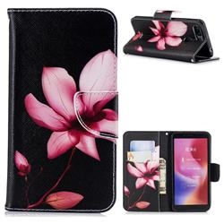 Lotus Flower Leather Wallet Case for Mi Xiaomi Redmi 6