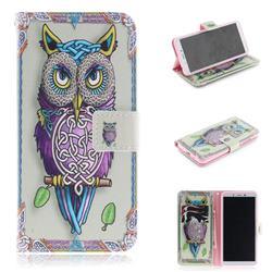 Weave Owl PU Leather Wallet Case for Mi Xiaomi Redmi 6