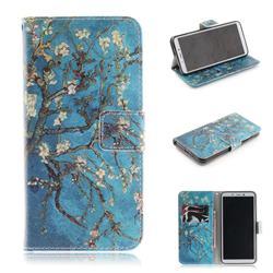 Apricot Tree PU Leather Wallet Case for Mi Xiaomi Redmi 6