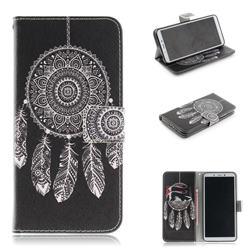 Black Wind Chimes PU Leather Wallet Case for Mi Xiaomi Redmi 6