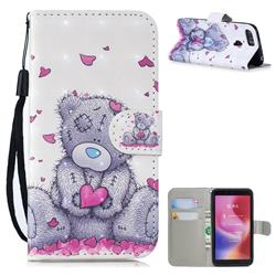 Love Panda 3D Painted Leather Wallet Phone Case for Mi Xiaomi Redmi 6