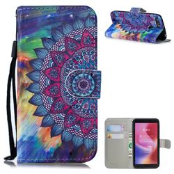 Oil Painting Mandala 3D Painted Leather Wallet Phone Case for Mi Xiaomi Redmi 6