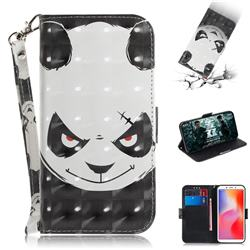 Angry Bear 3D Painted Leather Wallet Phone Case for Mi Xiaomi Redmi 6
