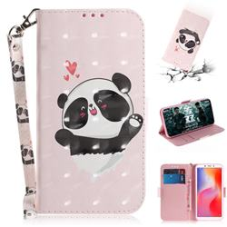 Heart Cat 3D Painted Leather Wallet Phone Case for Mi Xiaomi Redmi 6