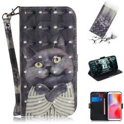 Cat Embrace 3D Painted Leather Wallet Phone Case for Mi Xiaomi Redmi 6