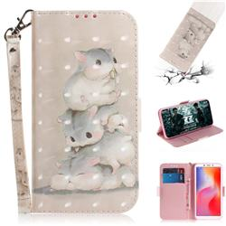 Three Squirrels 3D Painted Leather Wallet Phone Case for Mi Xiaomi Redmi 6