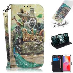 Beast Zoo 3D Painted Leather Wallet Phone Case for Mi Xiaomi Redmi 6