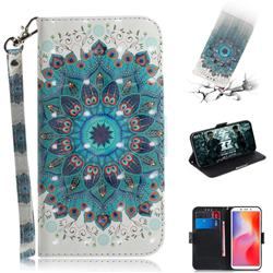 Peacock Mandala 3D Painted Leather Wallet Phone Case for Mi Xiaomi Redmi 6