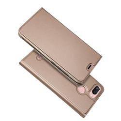 Ultra Slim Card Magnetic Automatic Suction Leather Wallet Case for Mi Xiaomi Redmi 6 - Rose Gold