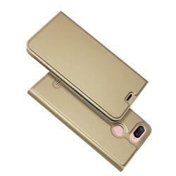 Ultra Slim Card Magnetic Automatic Suction Leather Wallet Case for Mi Xiaomi Redmi 6 - Champagne