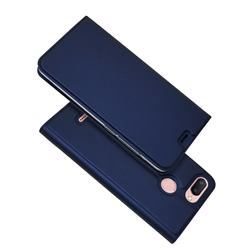 Ultra Slim Card Magnetic Automatic Suction Leather Wallet Case for Mi Xiaomi Redmi 6 - Royal Blue