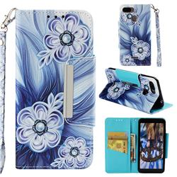 Button Flower Big Metal Buckle PU Leather Wallet Phone Case for Mi Xiaomi Redmi 6