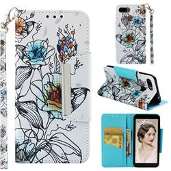 Fotus Flower Big Metal Buckle PU Leather Wallet Phone Case for Mi Xiaomi Redmi 6