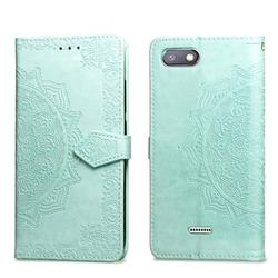 Embossing Imprint Mandala Flower Leather Wallet Case for Mi Xiaomi Redmi 6 - Green
